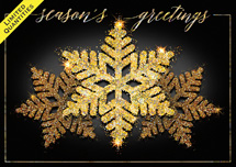 Snowflake Gold Holiday Cards