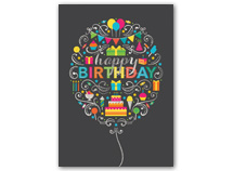 Birthday Elements Birthday Cards